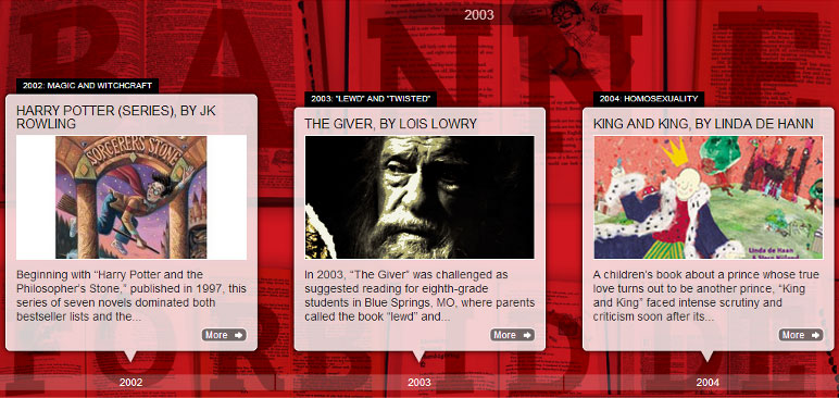 Screenshot from Banned Books Week timeline
