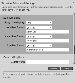 Customised Date Formatting options in Advanced Settings