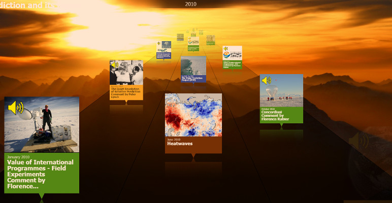 Screenshot of the Online Museum on the History of Weather Research