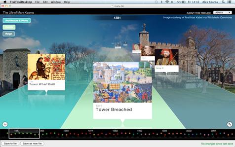 Desktop Timeline Software for Mac OSX and ChromeBooks